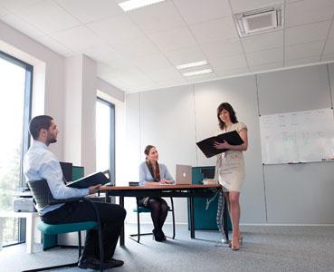 Luftkonditionering på kontor ger gladare medarbetare