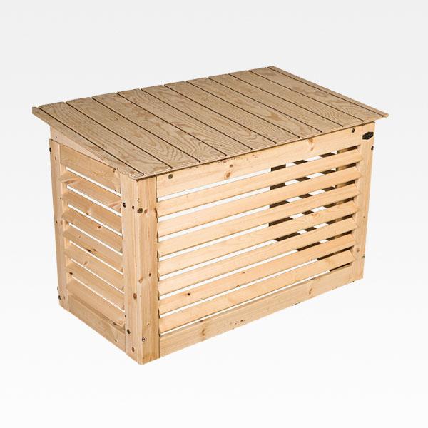 Värmepumpsskydd Medium Trä