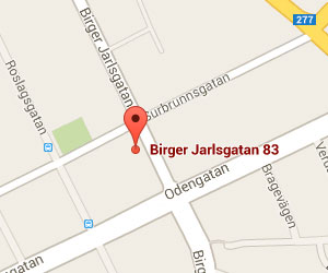 Karta - Birger Jarlsgatan 83, 113 56 Stockholm