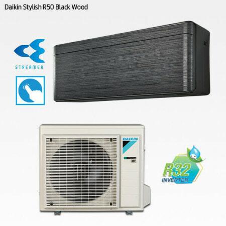Daikin Stylish R50 Black Wood FTXA50BT-RXA50B