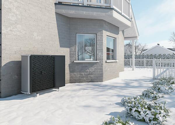 Top Grade Altherma 3 H HT luft-vattenvärmepump installerad