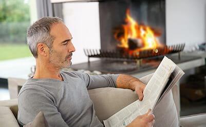 Öppen spisfunktion för bättre värmespridning från andra värmekällor